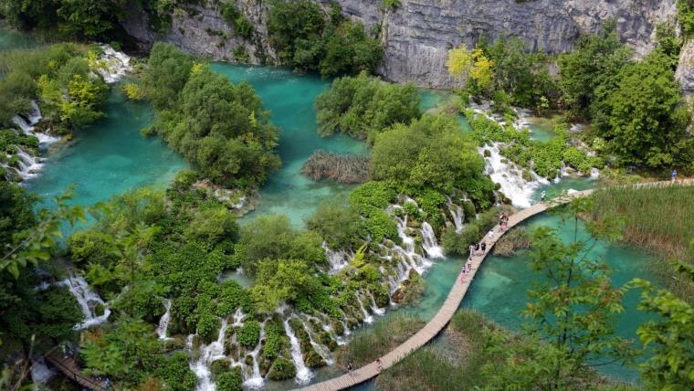 Najpoznatiji hrvatski nacionalni park, Plitvička jezera. (Foto: Brona Filić/Pixsell)