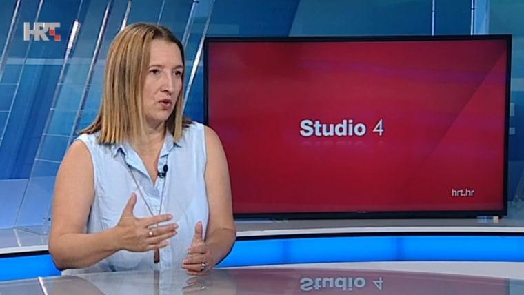 SDP official Aleksandra Kolarić (Screenshot: HRT)