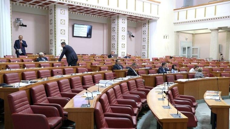 Sesión parlamentaria. (Foto: Patrik Macek/PIXSELL)