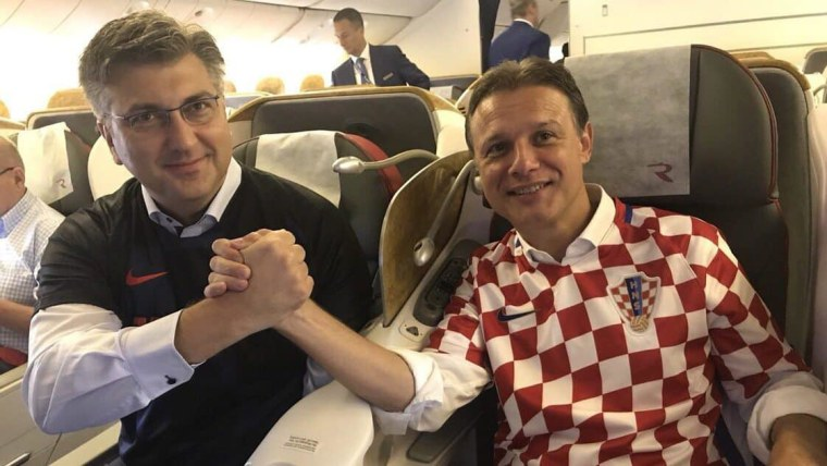 Prime Minister Andrej Penković and Parliament Speaker Gordan Jandroković. (Photo: Twitter)