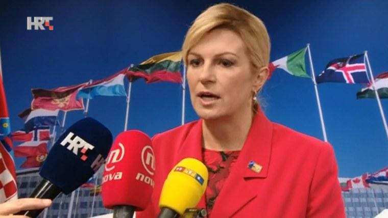 Präsidentin Kolinda Grabar-Kitarović (Foto: HRT)