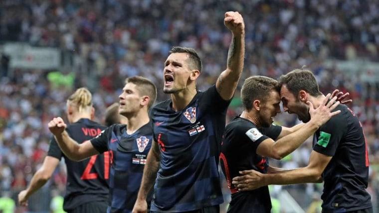 Kroatien nach dem Sieg gegen England (Foto: HNS-Kroatischer Fußballverband)