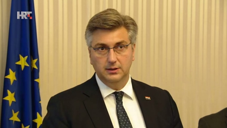 Croatian Prime Minister Andrej Plenković (Screenshot: HRT)