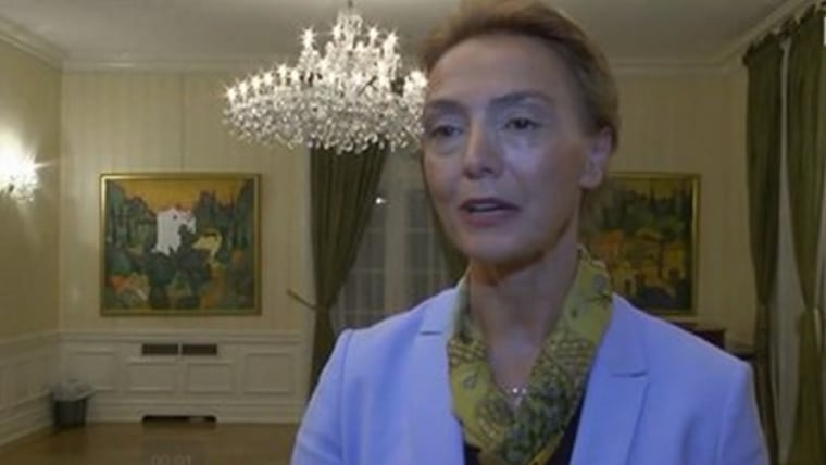 Croatian Minister of Foreign and European Affairs Marija Pejčinović Burić (Screenshot: HRT)