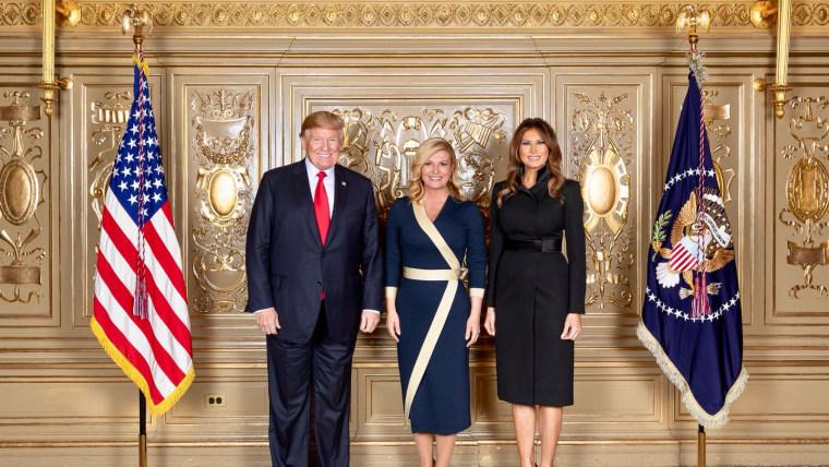 Presidentes de Croacia y Estados unidos, Kolinda Grabar Kitarović y Donald Trump (Foto: HRT)