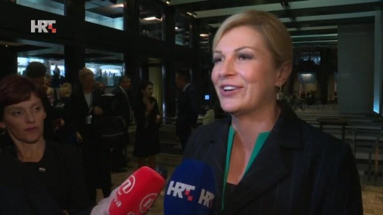 Presidente Kolinda Grabar Kitarović (Foto: HRT)
