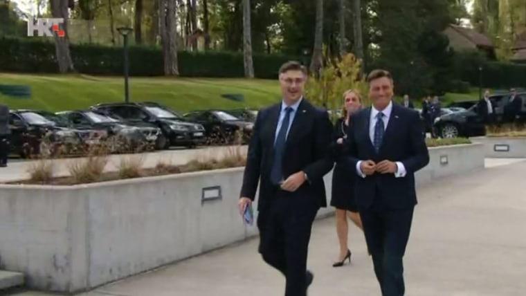 Premier de Croacia Andrej Plenković y Presidente de Eslovenia Borut Pahor (Foto: HRT)
