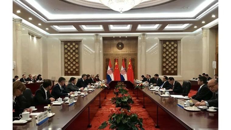 Visita oficial a China de la delegación croata (Foto: vlada.hr)