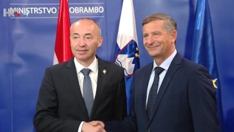 Ministros Krstičević y Erjavec (Foto: HRT)