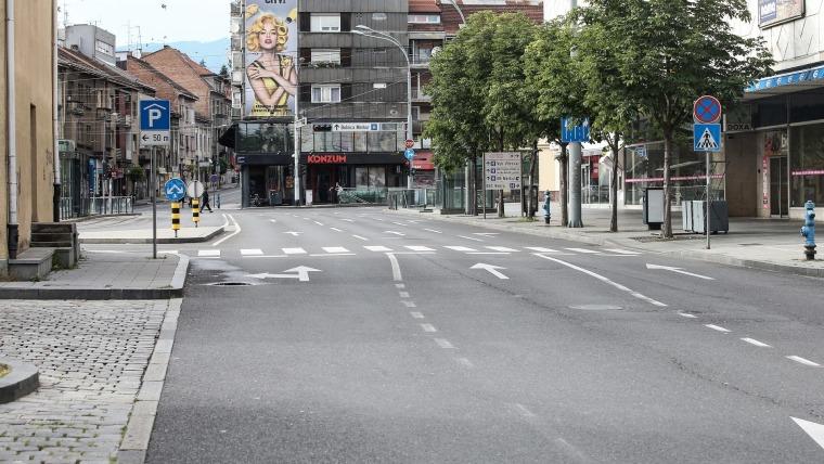 Calles vacías en Zagreb (Foto: Calles vacías (Foto: Petar Glebov-PIXSELL)
