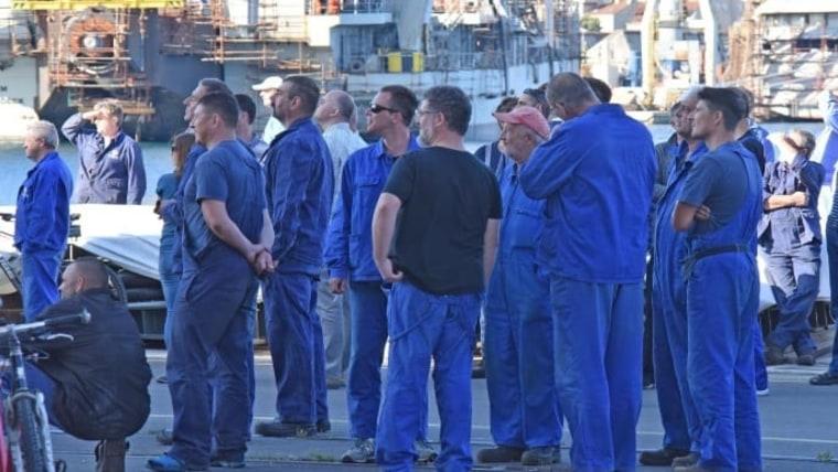 Workers at the Uljanik shipyard (Archive photo: Dusko Marusic/PIXSELL)