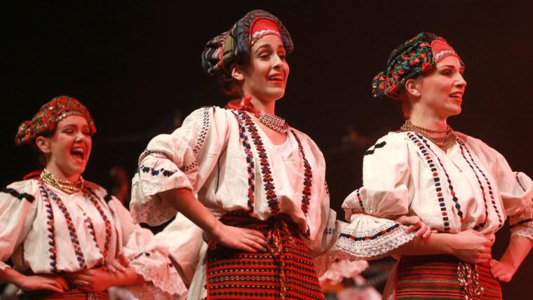 The Lado folklore ensemble performing in Split (Photo: Miranda Cikotic/PIXSELL)