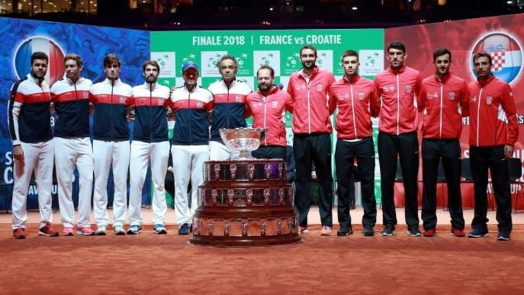The draw for the Davis Cup final in Lille. (Photo: Sanjin Strukić/PIXSELL)