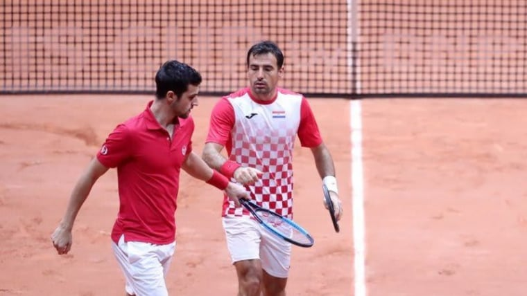 Ivan Dodig and Mate Pavić (Photo: Sanjin Strukic/PIXSELL)