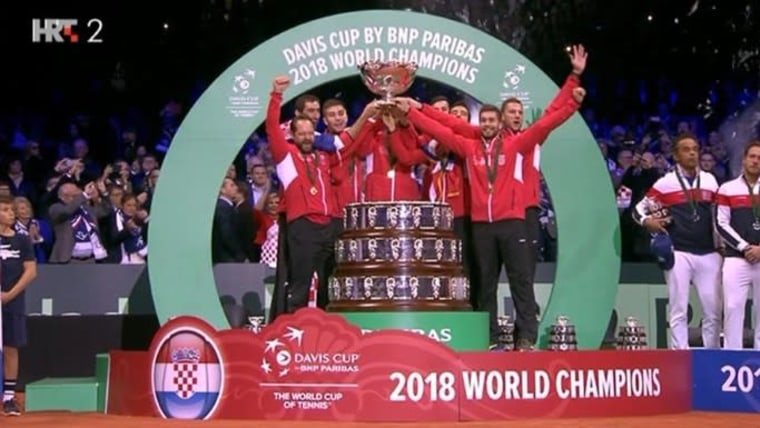 Croatia wins the Davis Cup (Photo: HRT)
