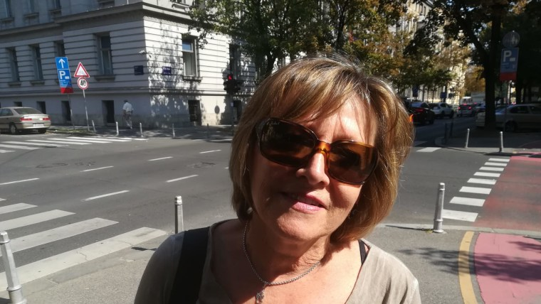La señora Vesna Tomašković en Zagreb (Foto: David Rey)