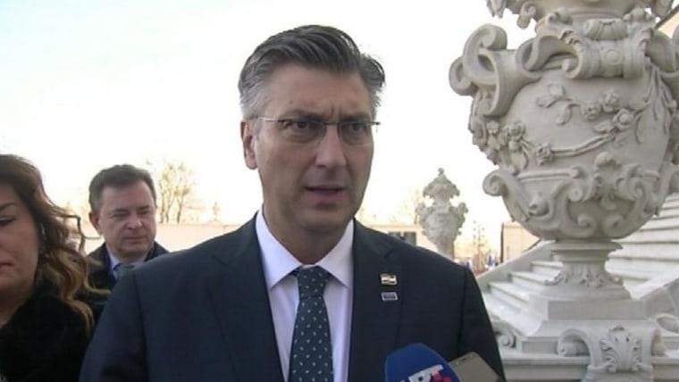 Primer Ministro croata Andrej Plenković en Bratislava. (Foto: HRT.hr)