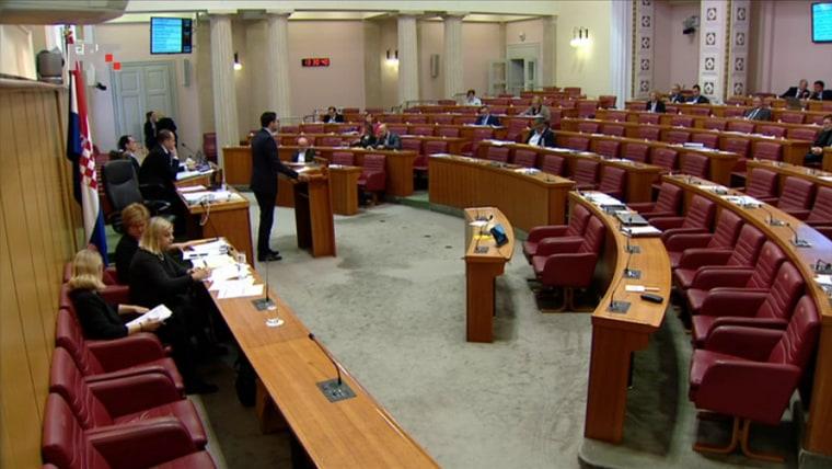 Sesion del Parlamento Croata. (Foto HRT.hr)