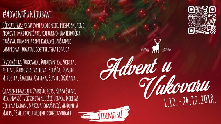 Plakat Advent u Vukovaru (Foto: Organizatori bez granica)