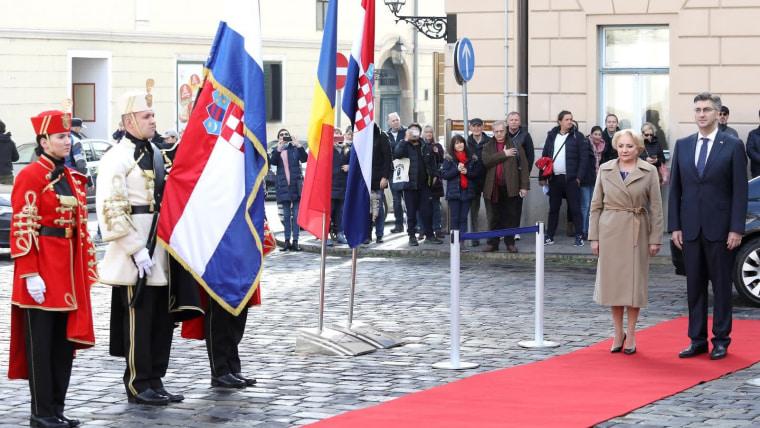 Mandatarios de la región llegan a Zagreb (Foto: Patrik Macek/PIXSELL)