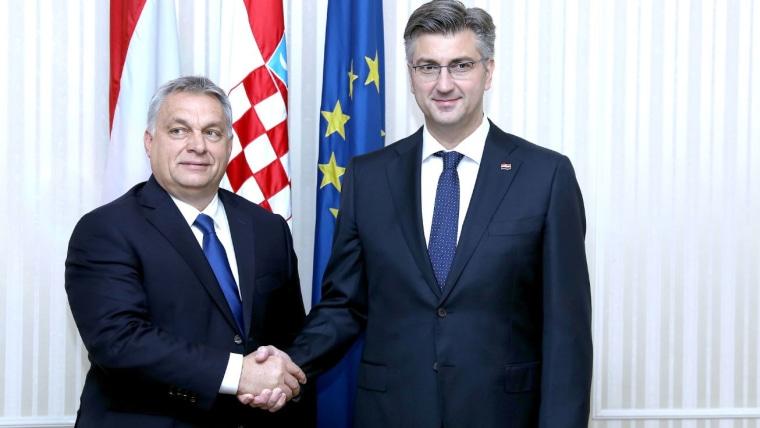 Viktor Orban und Andrej Plenković, (Foto: Patrik Maček/Pixsell)