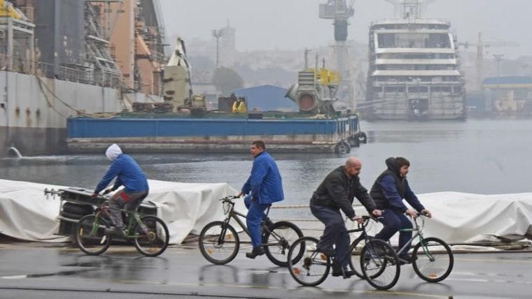 Arbeiter der Uljanik-Werft bei ihren Streik (Foto: Duško Marušić / PIXSELL)