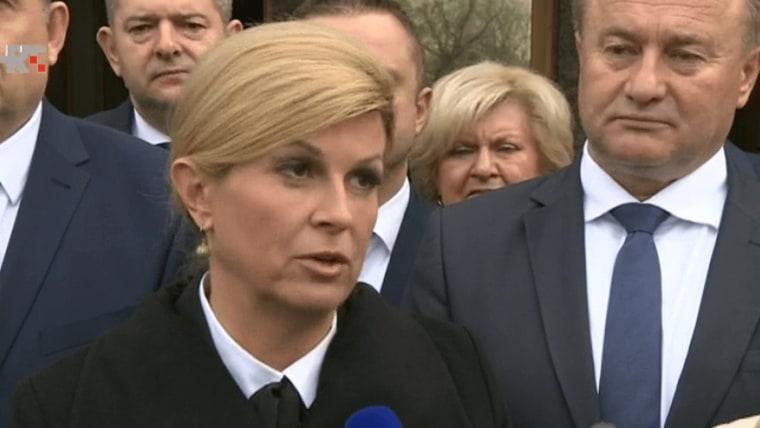 Presidenta Kolinda Grabar-Kitarović en Sisak (Foto: HRT)