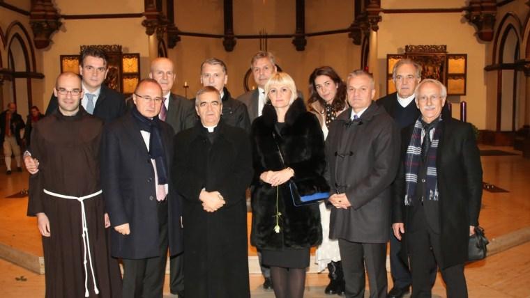 Gosti božićnog prijema kod veleposlanika dr. Gordana Grlića Radmana u Berlinu. (Foto: Željko Matić)