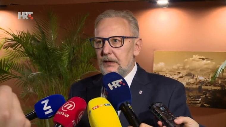 Interior Minister Davor Božinović (Photo: HRT)