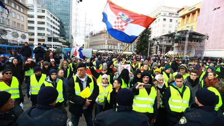 Chalecos amarillos en Zagreb