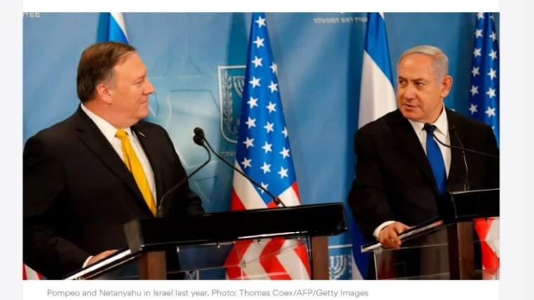 Mike Pompeo y Benjamin Netanyahu (Foto: HRT)