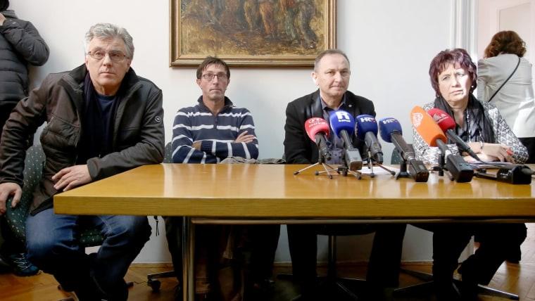 Union leaders (Photo: Nel Pavletic/PIXSELL)