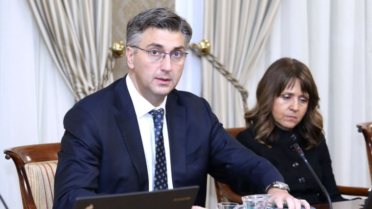 Andrej Plenkovic en la sesion del Gobierno (Foto  Patrik Macek PIXSELL)