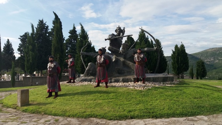 Monument to Duke Domagoj and his archers in the village of Vid (Photo: HRT)