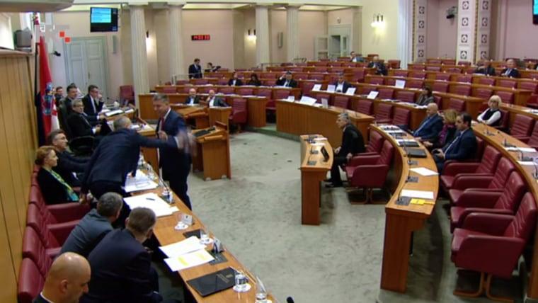 Sitzung des kroatischen Parlaments (Foto: Patrik Macek/PIXSELL)