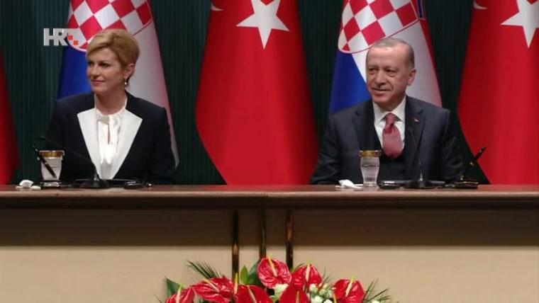 Kolinda Grabar-Kitarović und Recep Tayyip Erdogan  (Foto: HRT)
