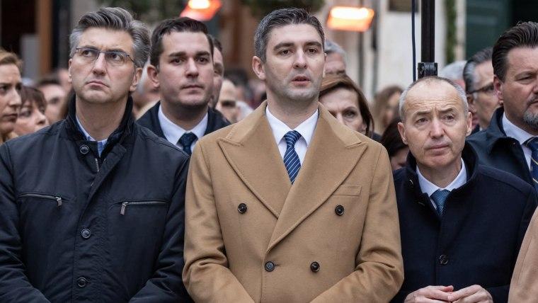 Prime Minister Andrej Plenković (L) Dubrovnik Mayor Mato Franković (C) Defense Minister Damir Krstičević (R) (Photo: Grgo Jelavic/PIXSELL)