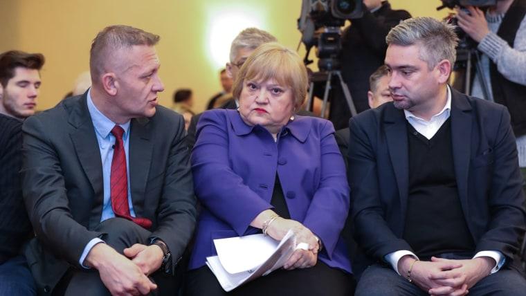 Krešo Beljak, Anka Mrak Taritaš, Boris Miletić (Photo: Robert Anic/PIXSELL)