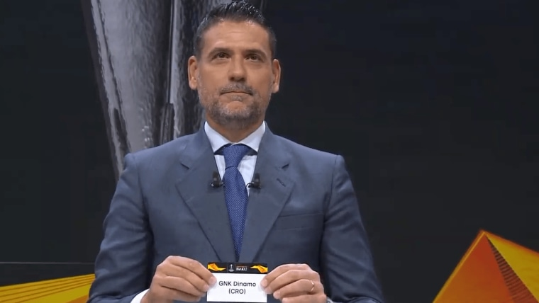 Dinamo Zagreb being drawn for the final 16 of the Europa League (Photo: Screenshot Youtube)