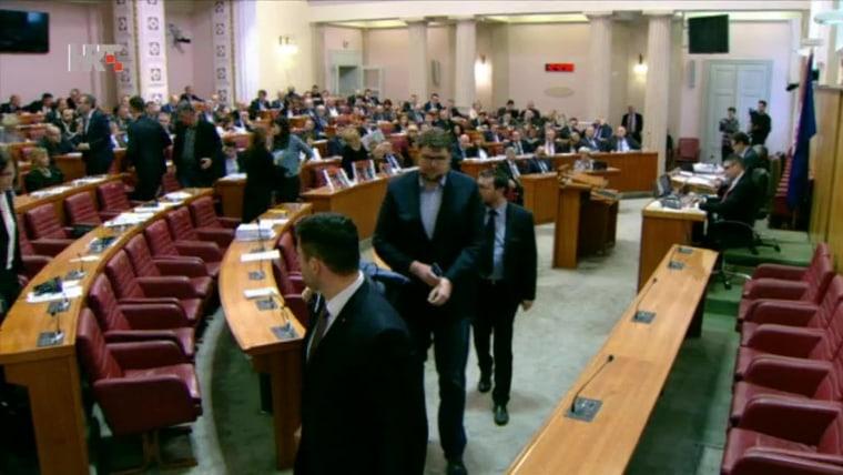 Parlamento Croata (Foto: HRT)