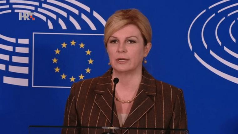 Kolinda Grabar Kitarović en Bruselas (Foto: HRT)