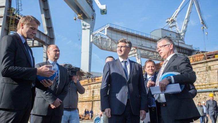 El primer ministro Andrej Plenković en el astillero 3 Maj (Foto: Nel Pavletic/PIXSELL)
