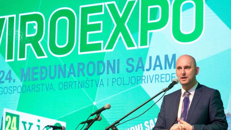 Feria internacional ViroExpo y el ministro de Agricultura, Tomislav Tolušić (Foto: Dubravka Petric/PIXSELL)
