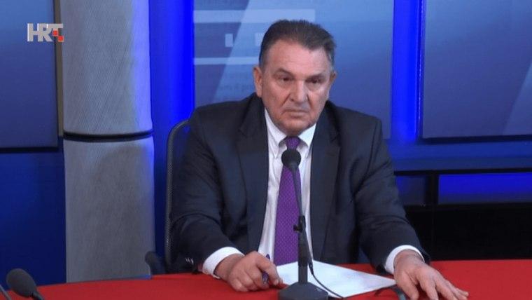 Radimir Čačić the chairman of the People's Party-Reformists (Screenshot: HRT)