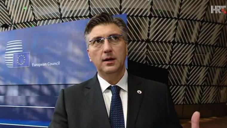 Croatian Prime Minister Andrej Plenković (Screenshot: HRT)