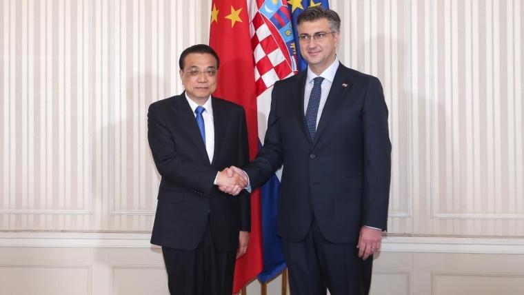 Chinese Prime Minister Li Keqiang and Croatian Prime Minister Andrej Plenković (Photo: Patrik Macek/PIXSELL)