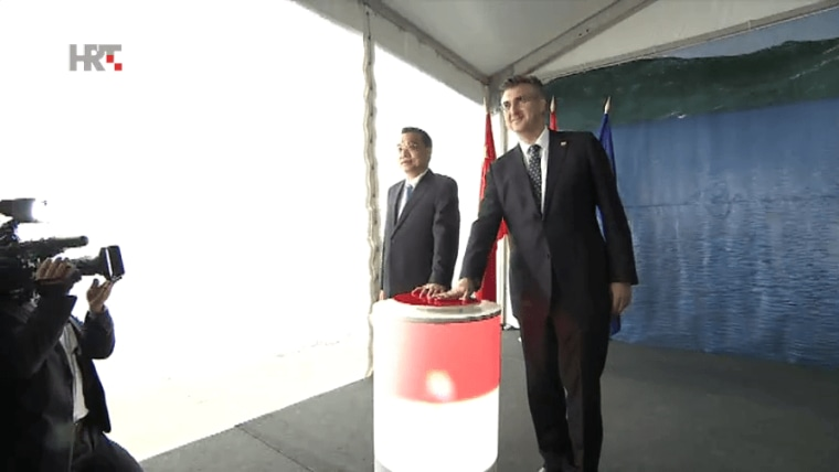 Chinese Prime Minister Li Keqiang and Croatian Prime Minister Andrej Plenković (Photo: HRT)