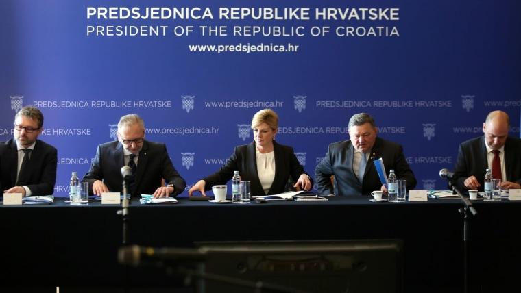 National Security Council – President Kolinda Grabar Kitarović (C) (Photo: Marko Prpic/PIXSELL)