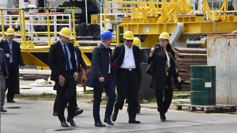 CSIC delegation tours Uljanik dock in Pula (Photo: Dusko Marusic/PIXSELL)