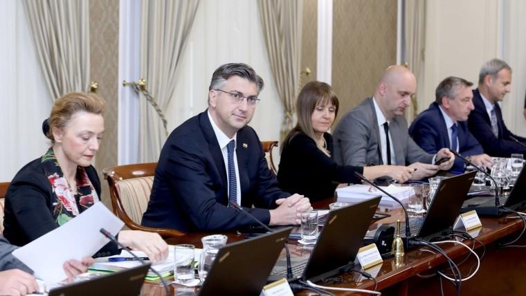 Sesión del Gobierno croata. (Foto: Patrik Macek/PIXSELL)